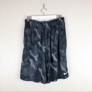 Nike Dri-Fit Mens Athletic Shorts Black Loose Fit